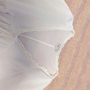 Lucky brand flowey white shirt
